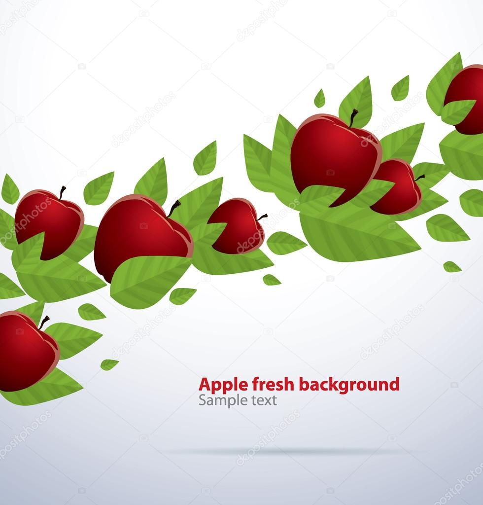 Red apple fresh background