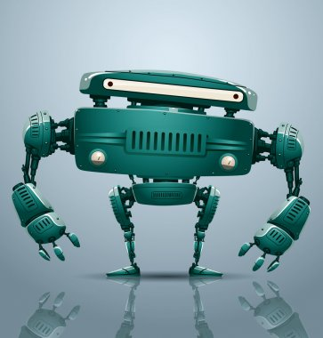 Turquoise robot