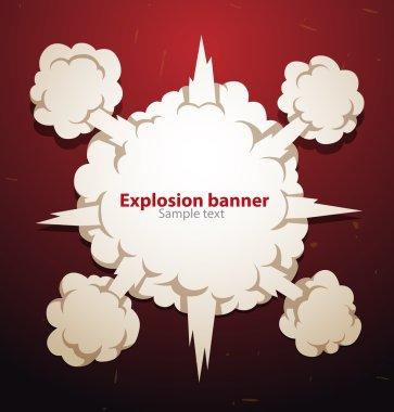 Explosion banner
