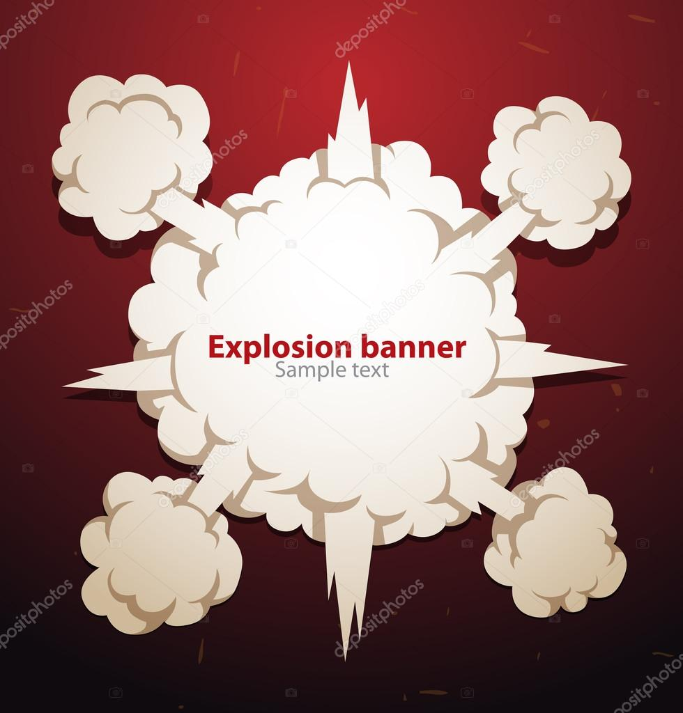 Explosion banner