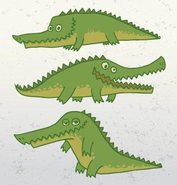 funny crocodile set