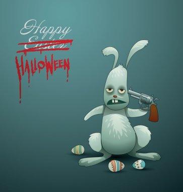 Halloween card Easter Bunny