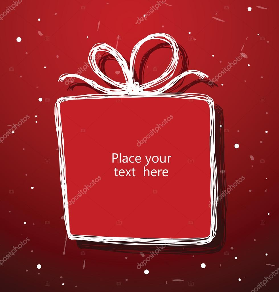 ivannikulin 87671036 vector christmas gift banner christmas banner as red christmas gift on a red background looks like applique of paper the text is written in the curves negle Gallery