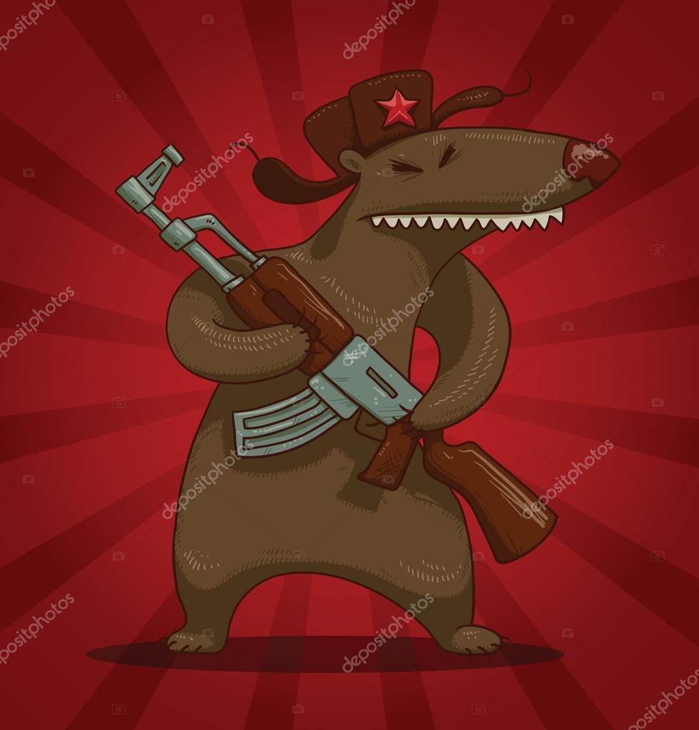 истинной картинка медведь в шапке ушанке с автоматом балконов, лоджий так