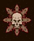 Fotografia emblema del cranio scuro