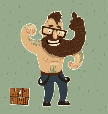 beard power concept