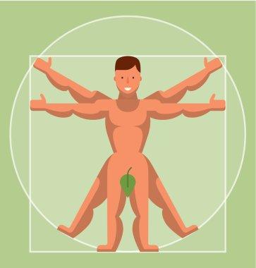 flat Vitruvian Man