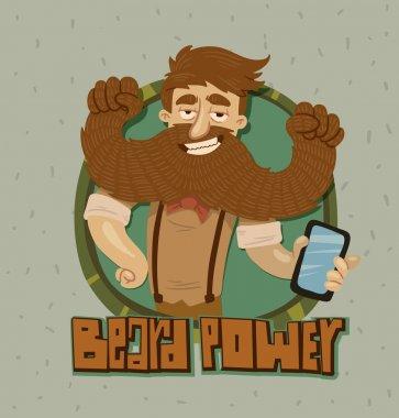 beard power label
