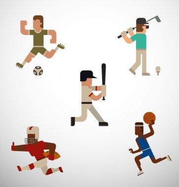 kinds of sport set
