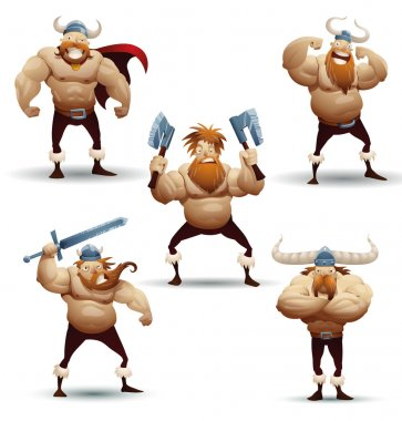 Viking warriors set