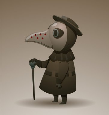 Plague doctor with cane