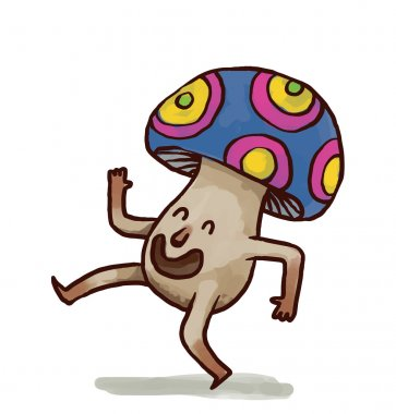 cartoon party mushroom