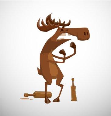 funny drunk moose