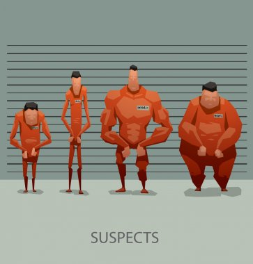 suspects in orange suits