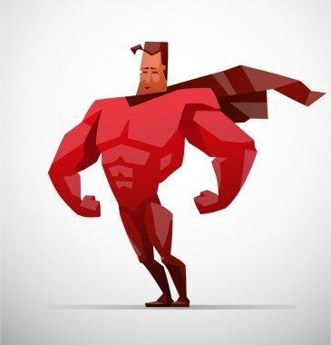 superhero in red costume
