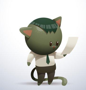 cute office cat