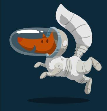 cartoon fox astronaut