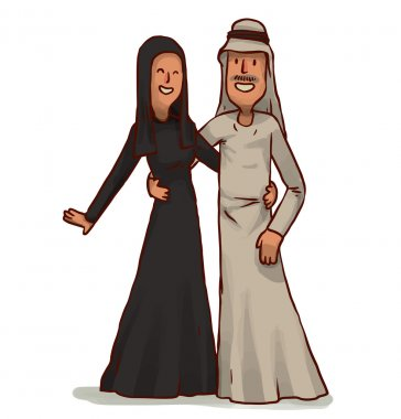 Arabic man with wife