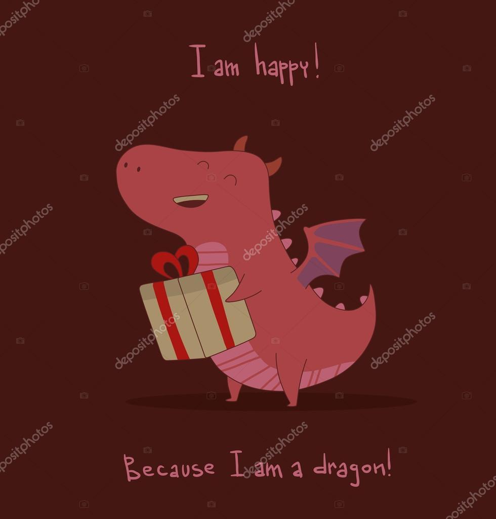 pink cute dragon