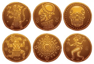 Ancient Gold Coins set