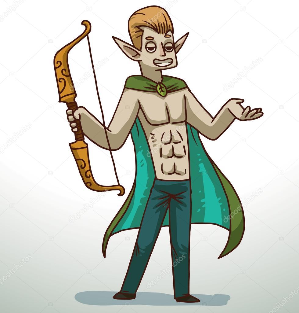 Man in Elf costume for Halloween u2014 Stock Vector  sc 1 st  Depositphotos & Man in Elf costume for Halloween u2014 Stock Vector © IvanNikulin #97771962
