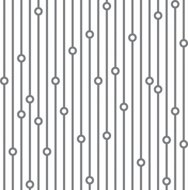 Seamless pattern with vertical lines and circles white background
