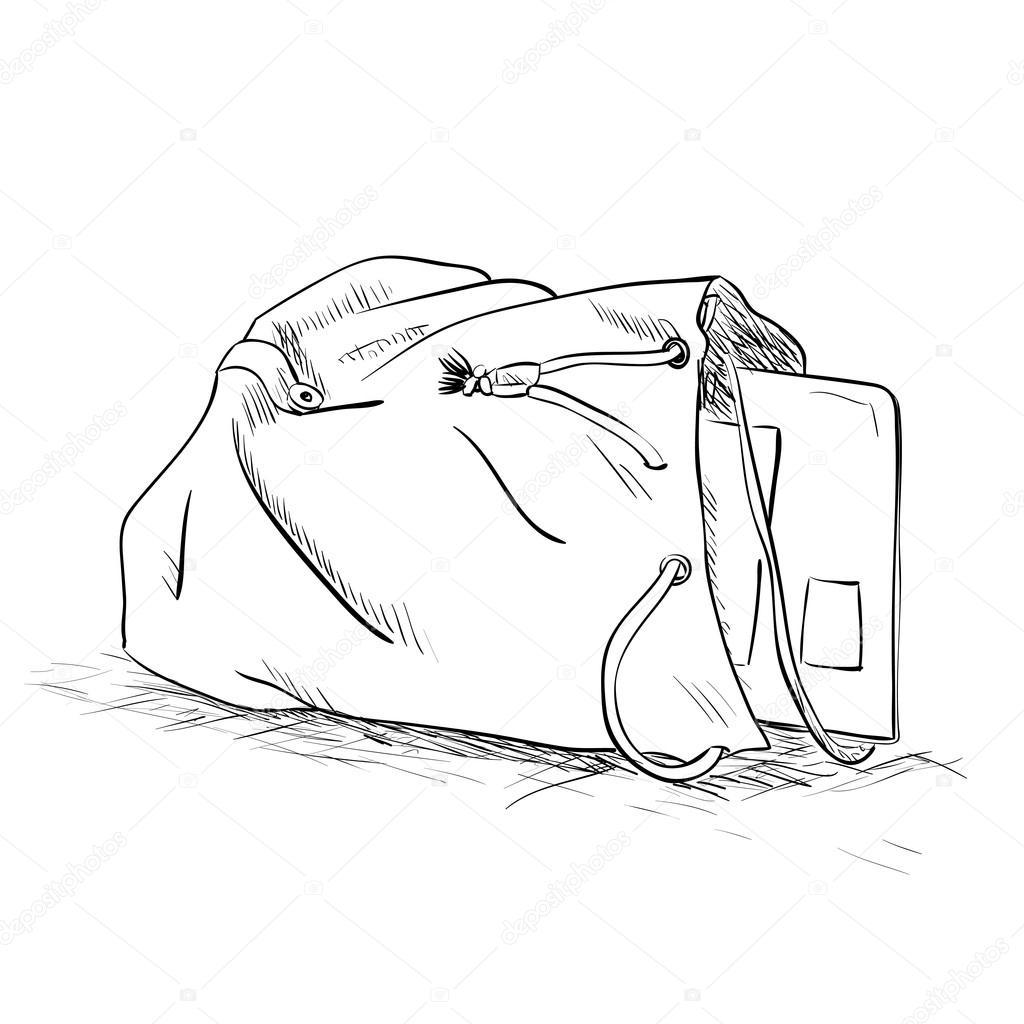 Skizze-Tasche mit Tablet im Inneren — Stockvektor © BeatWalk #113938144