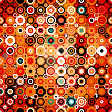 Disco style pattern with dots and circles