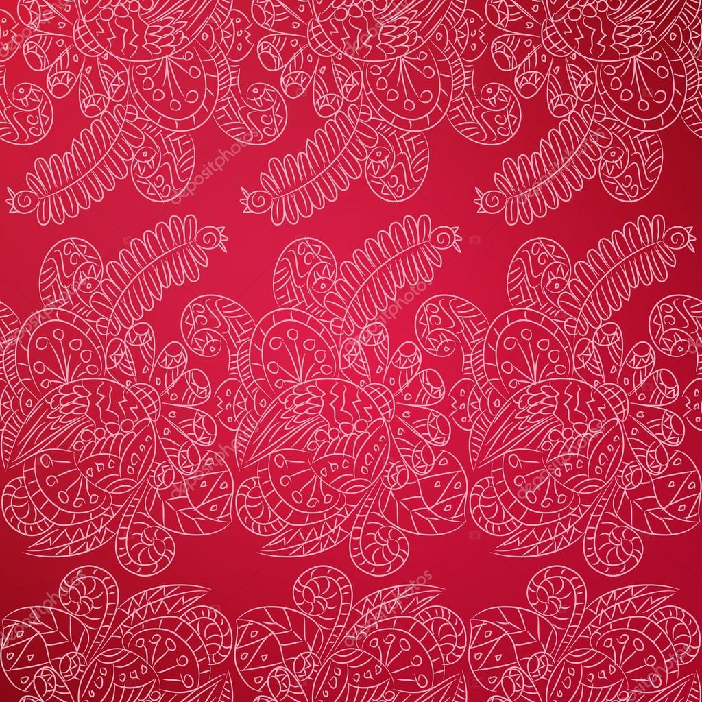 Outlines pattern with ornamental lace