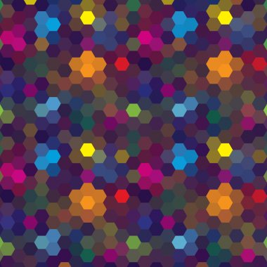 Abstract colorful background of hexagons