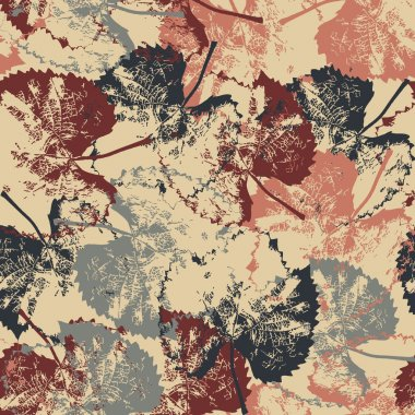 Seamless pattern texture with leaves