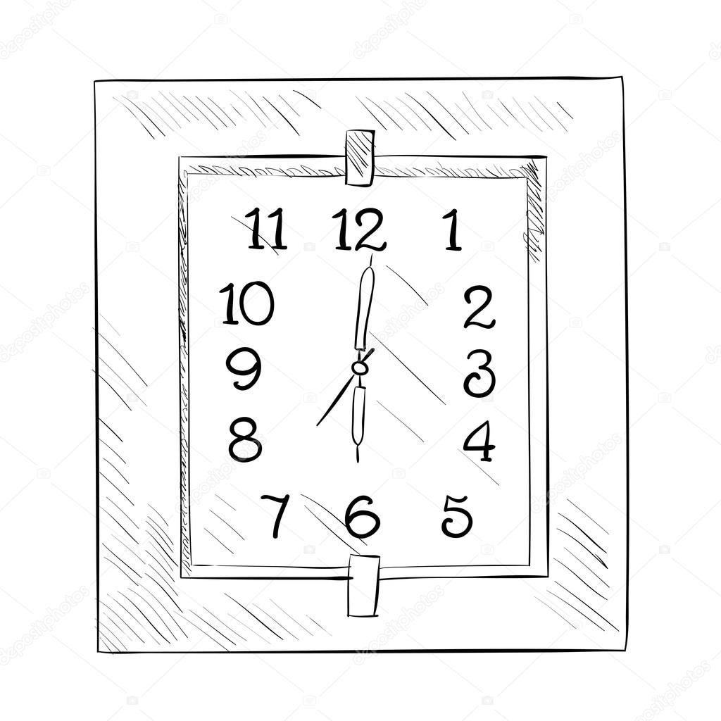 Sketch of wall clock stock vector beatwalk 89605758 sketch of wall clock stock vector ccuart Choice Image