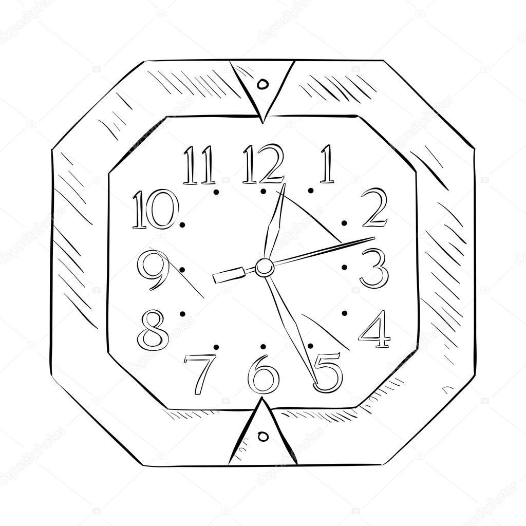 Sketch of wall clock stock vector beatwalk 89605862 sketch of wall clock stock vector ccuart Image collections
