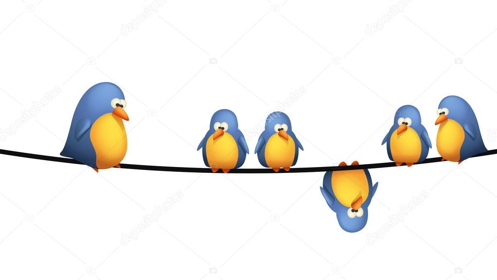 bird wire — Stock Vector © IfH85 #83740246
