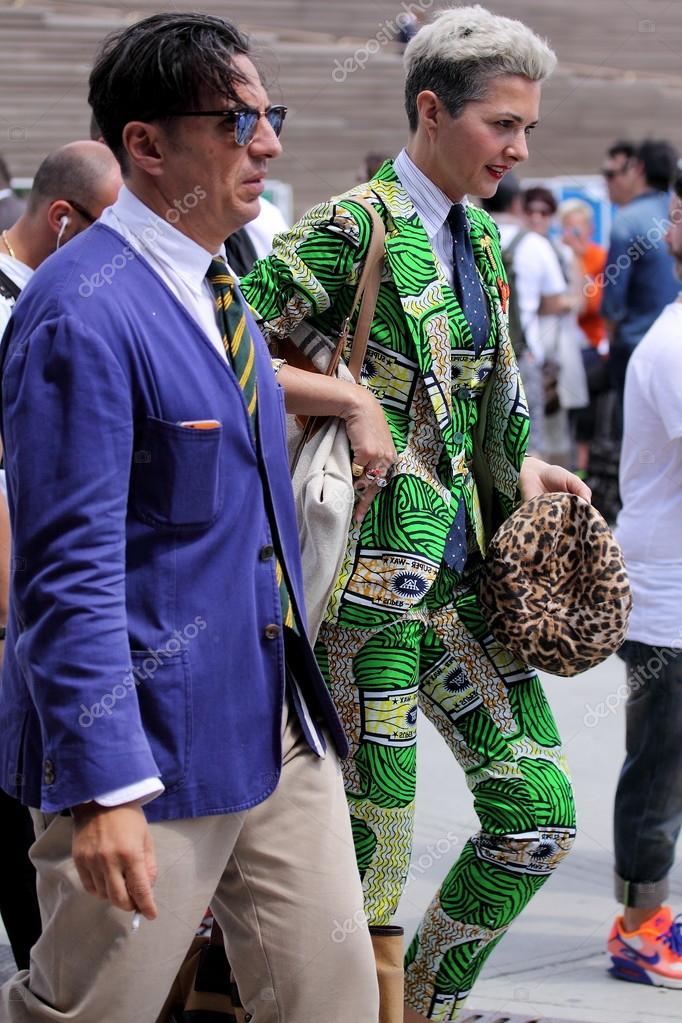 Man on Pitti uomo 87 fashion fair in Florence, Italy ...