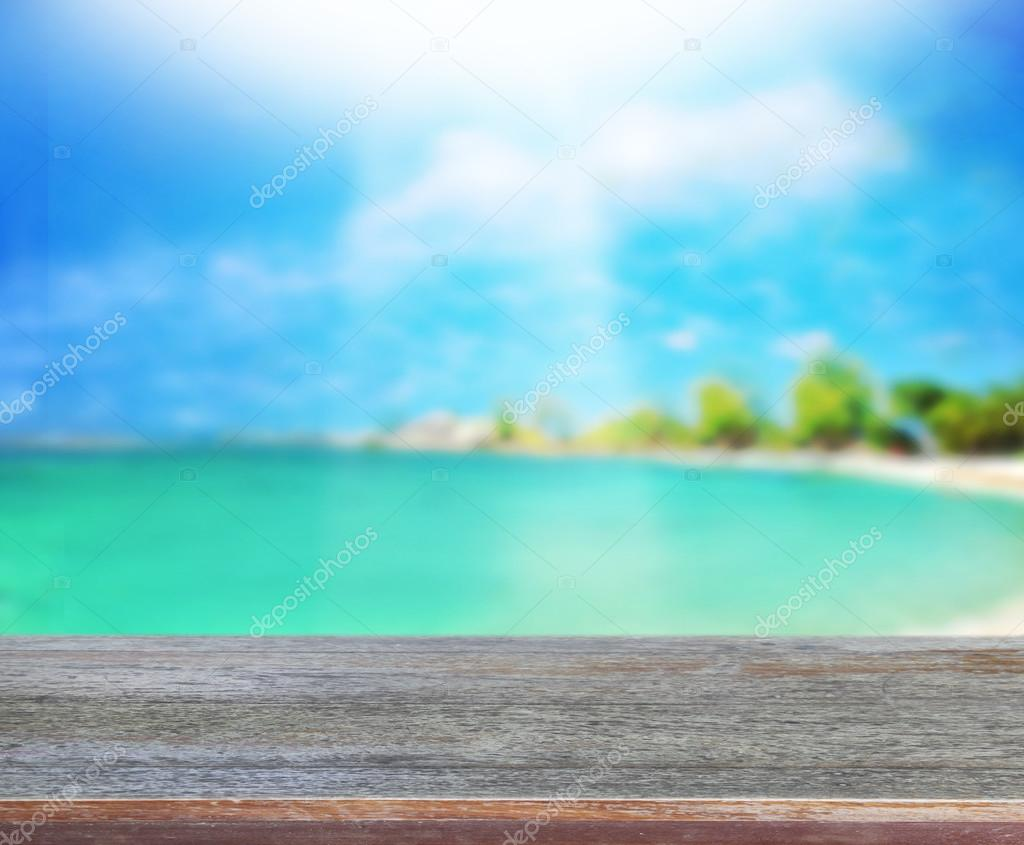 Table Top And Blur Nature Background