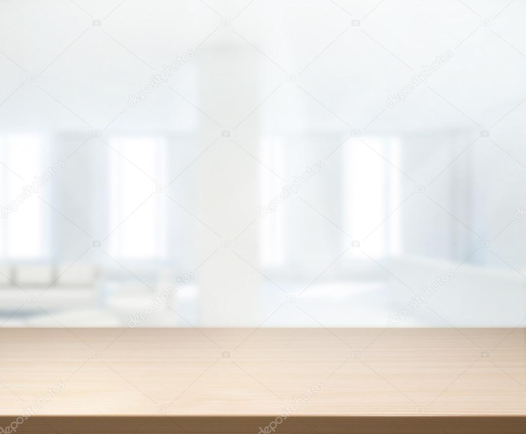 Table Top And Blur Office Background Stock Photo C Nuttapoldpspt