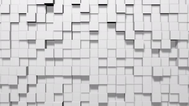 Minimal Modern White Cubes squares blocks geometric waves Abstract background an