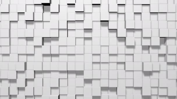 Minimální moderní bílé kostky čtverce bloky geometrické vlny Abstraktní pozadí a