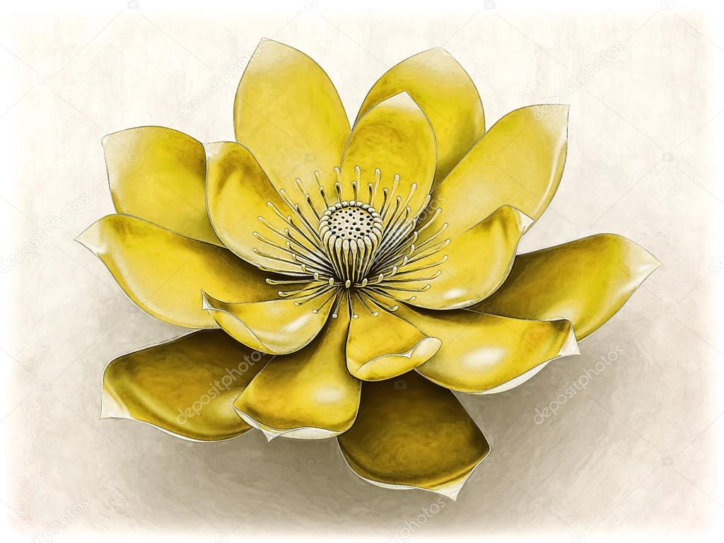 Chakra Lotus Flower Yellow Stock Photo Goku347 106991490