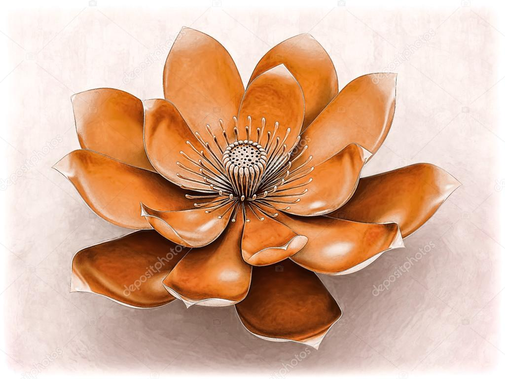 Chakra lotus flower orange stock photo goku347 106992202 chakra lotus flower orange stock photo izmirmasajfo