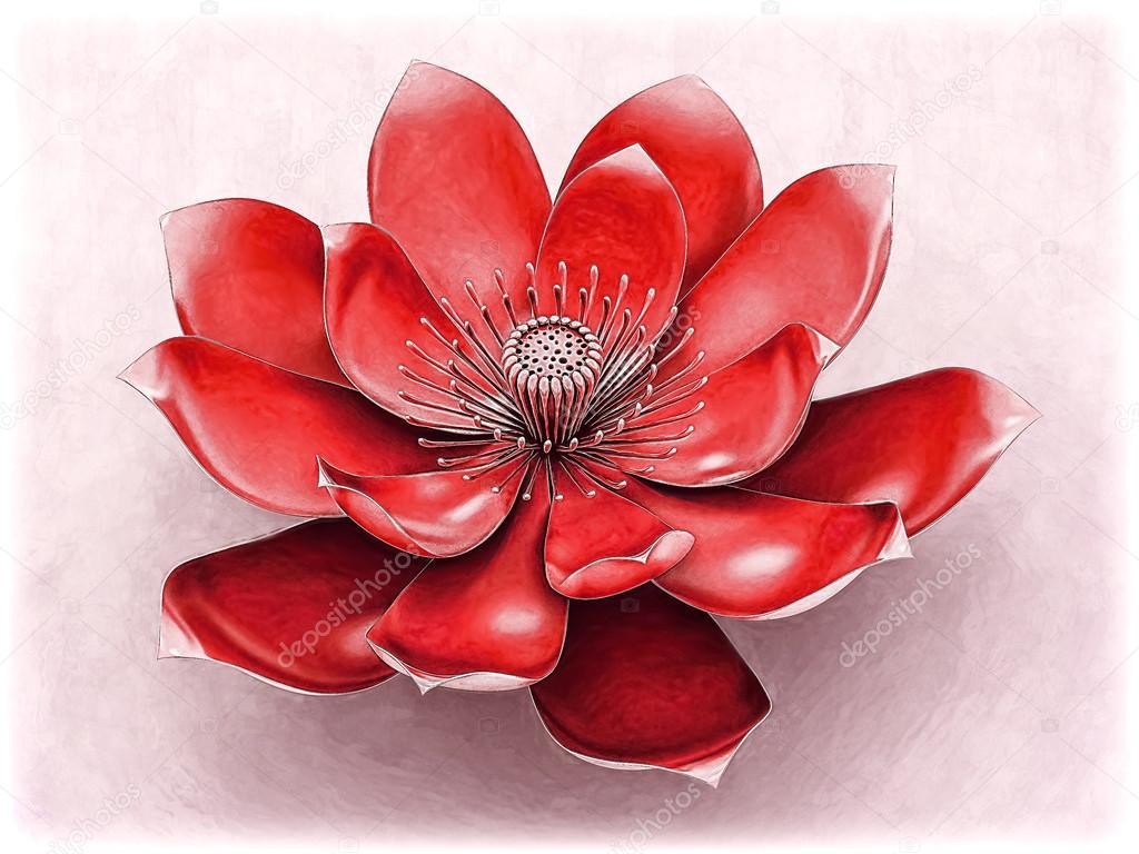 Chakra Lotus Flower Red Stock Photo Goku347 106992404