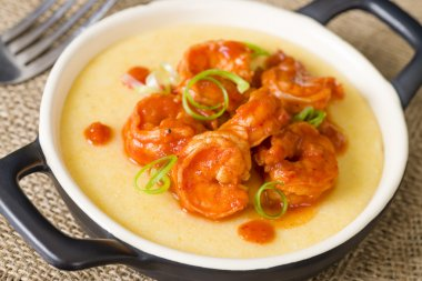 Spicy Prawns & Polenta