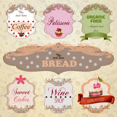 Template designs of food and drink banners