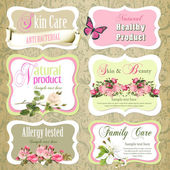 Vector Beauty and Care logo template set