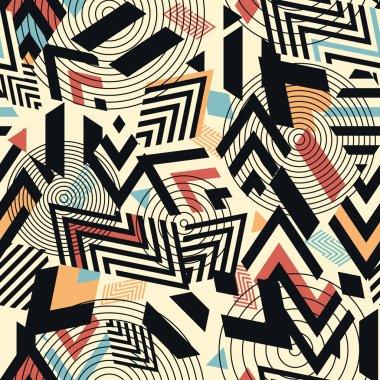 Seamless vector geometric pattern background clip art vector