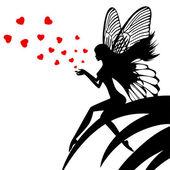 Photo Silhouette fairy girl