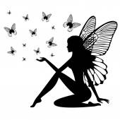 Photo Silhouette of fairy