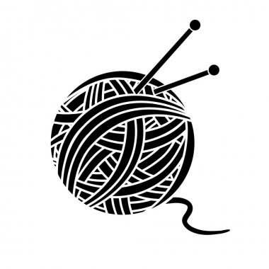 Ball of yarn and needles