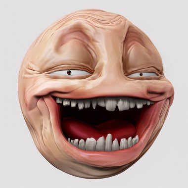 Hyper troll 3d illustration
